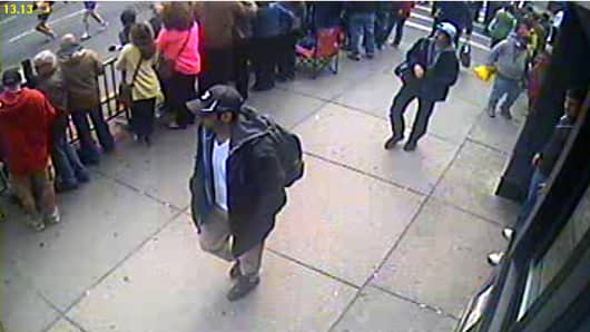 Boston police identify two suspects in Monday's bombing.