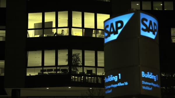 Walldorf, Germany - The headquarters of SAP AG