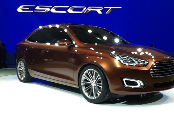 Ford Escort Concept unveiled at the Shanghai Auto Show, China.