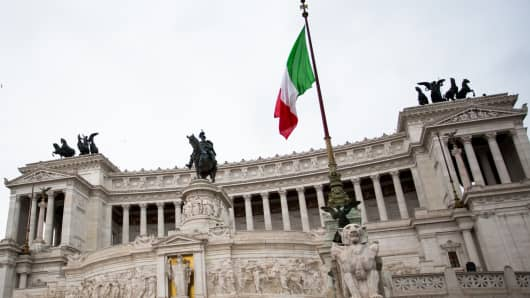 Victor Emmanuel II Monument in Rome, Italy.