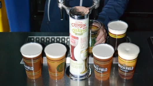 Safeco Field offering craft beer to patrons.