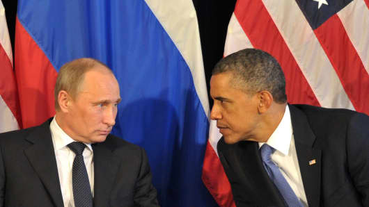 Russia's President Vladimir Putin and President Barack Obama