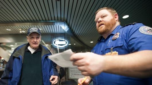 TSA security checkpoint in Portland, Oregon.