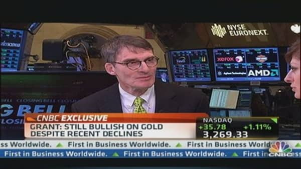 Very Bullish on Gold: James Grant