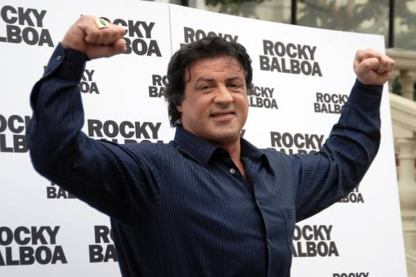 Actor Sylvester Stallone who plays the lead role as a boxer Rocky Balboa in the popular U.S. film series.