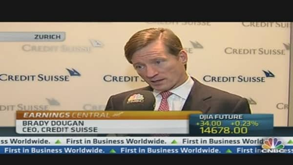 Credit Suisse CEO: Feeling Pretty Constructive