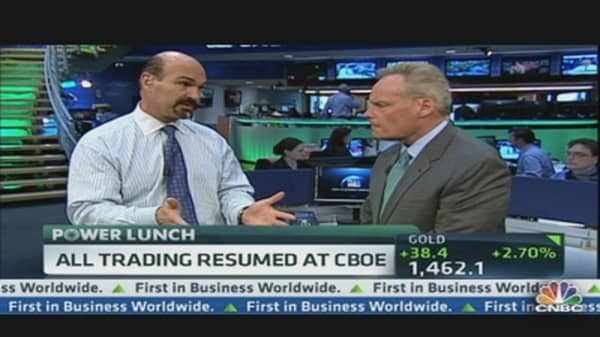 CBOE Open for Business Again