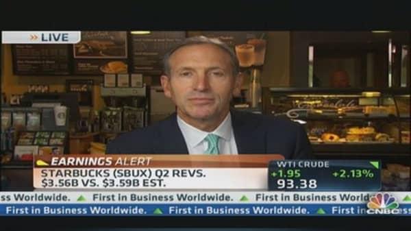 Starbucks' Schultz Talks Q2 Results