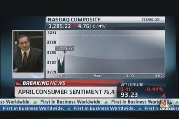 Consumer Sentiment 76.4 in April