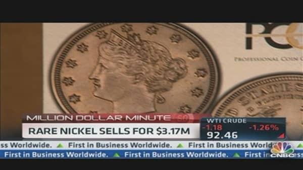 Rare Nickel Sells For $3.17 Million