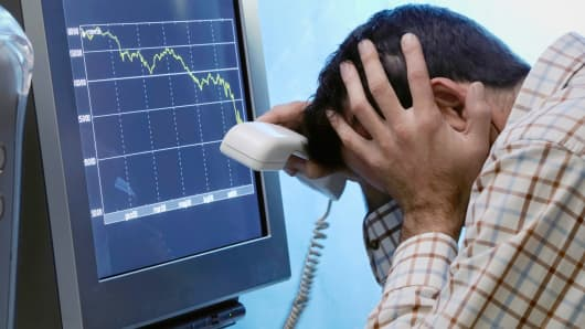 Stock trader upset market down