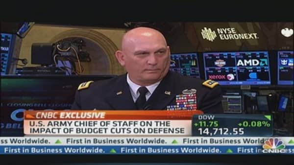 US Army Chief of Staff on Budget Cuts & Defense