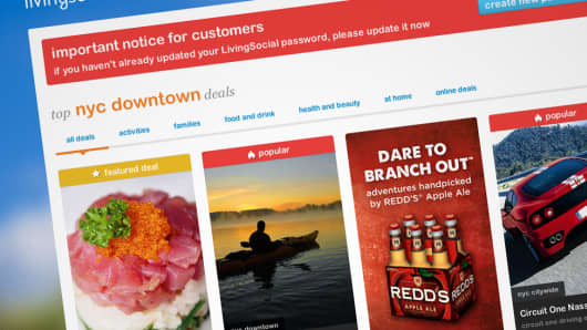 livingsocial hacked 50 million customers affected