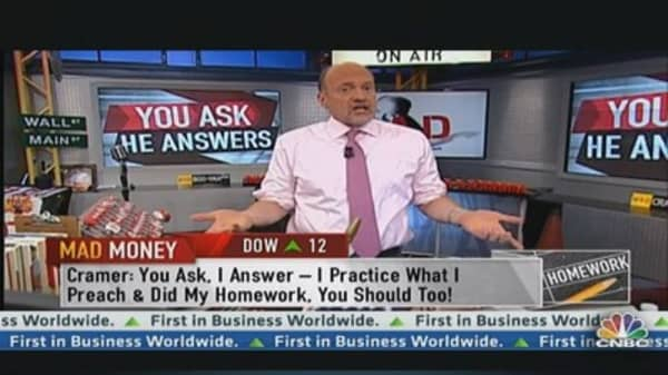 You Ask, Cramer Answers!