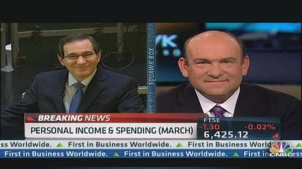 Personal Income & Spending, Both Up 0.2 % in March