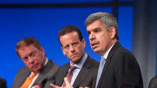Mohamed El-Erian speaks at the Global Overview session at the 2013 Milken Institute Global Conference.