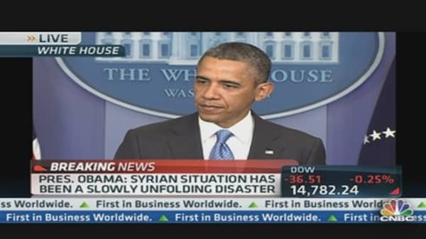 Pres. Obama: Chemical Weapon Use is a 'Game Changer'
