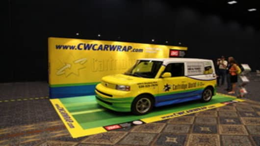 Cartridge World's Car Wrap