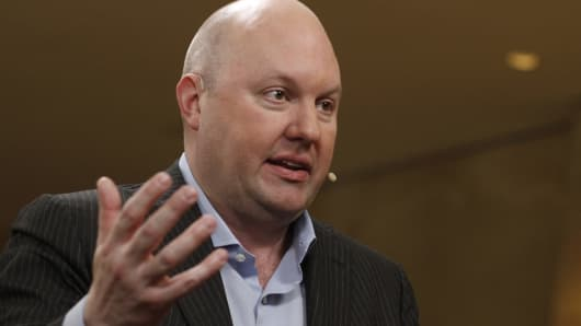 Marc Andreessen, co-founder and partner of Andreessen Horowitz.