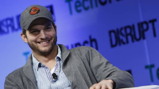 Ashton Kutcher speaks at TechCrunch Disrupt NY 2013