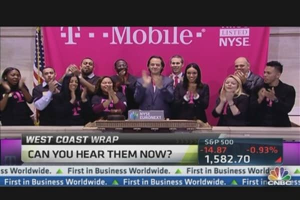 T-Mobile US Up on First Day of Trading