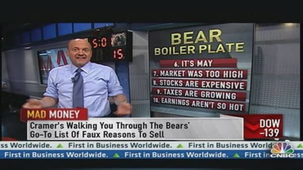 Cramer's Thoughts on Wednesday's Decline