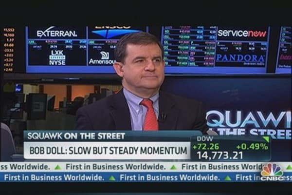 Bob Doll:  Momentum Slow But Steady