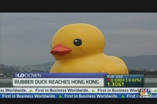 Giant Rubber Duckie Captures Hong Kong's Heart
