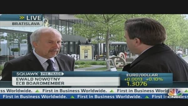 ECB's Nowotny: No Plan for Negative Deposit Rates