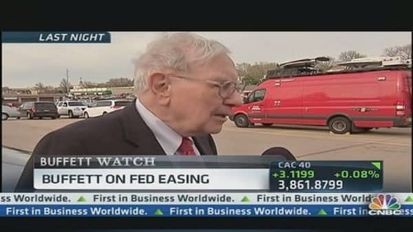 Buffett on Fed Easing