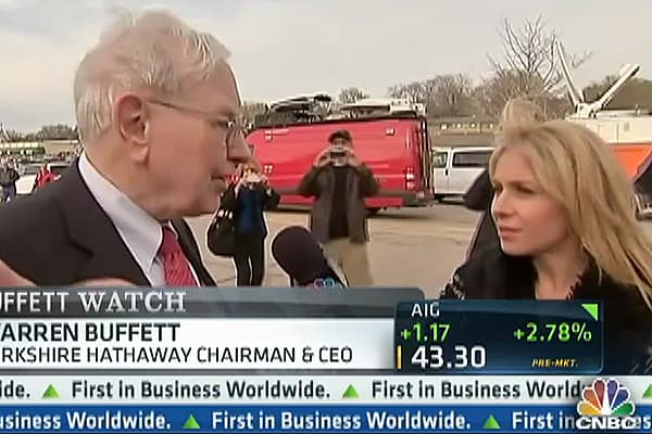 Buffett on the Economy, IBM, and Joining Twitter