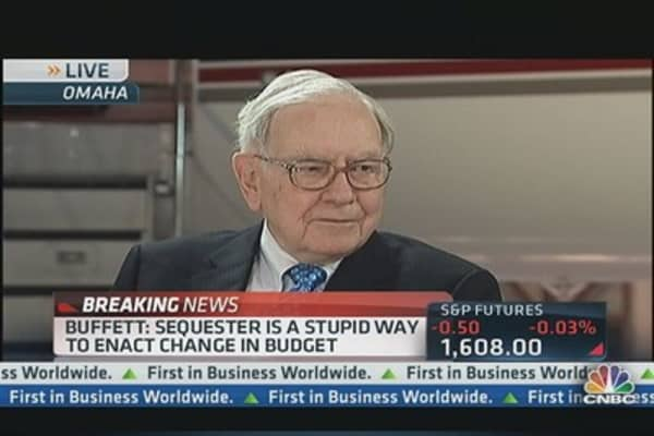 Buffett: Sequester Is 'Stupid Way' to Enact Budget Change