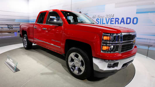 A 2014 Chevy Silverado at the 105th Annual Chicago Auto Show.