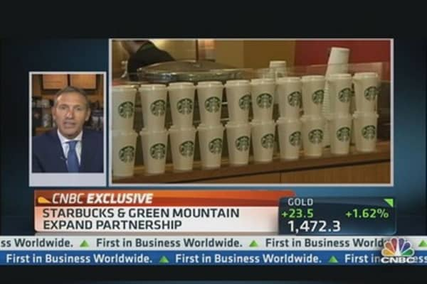 Starbucks & Green Mountain CEOs on Expanded Partnership