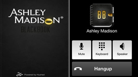Ashley Madison's new Black Book app.