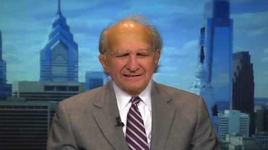 Control room photo mash up of CNBC's Joe Kernen and Wharton professor Jeremy Siegel.