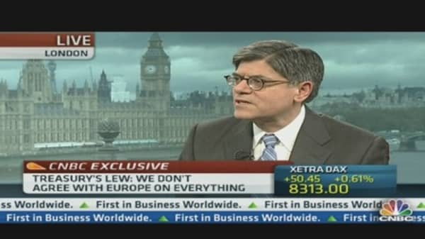 Lew: Europe Must Balance Austerity and Growth