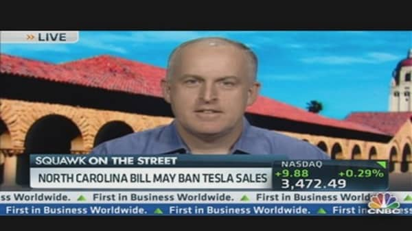 North Carolina Bill Would Ban Tesla Sales