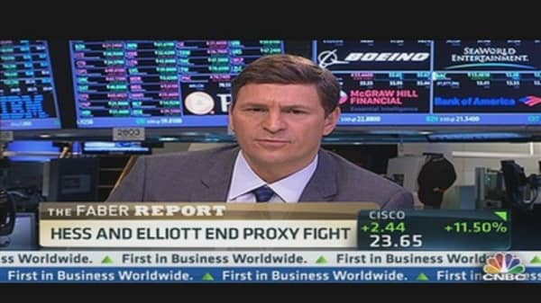 Hess & Elliott End Proxy Fight