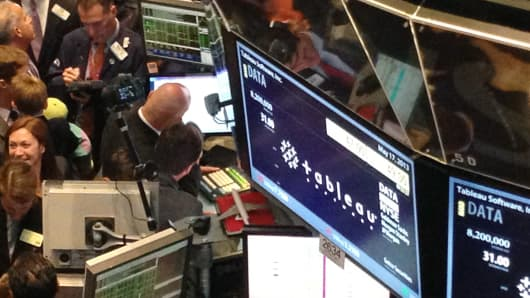 Tableau Software launches their IPO on May 17, 2013 at the NYSE.