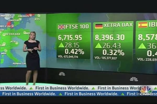 European Shares Close at Record Highs