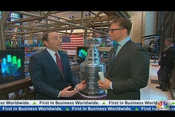 NHL's Stanley Cup Visits The NYSE