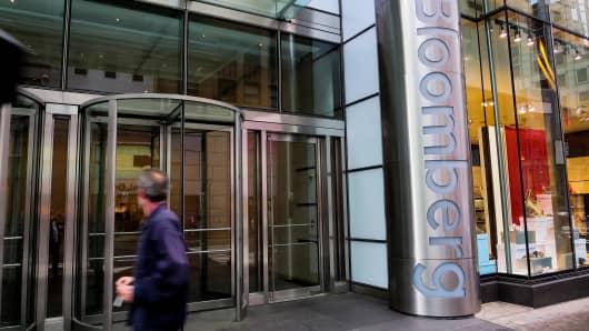 Bloomberg News headquarters in New York City.