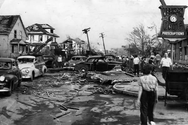 Worcester Mass, Tornado 1953