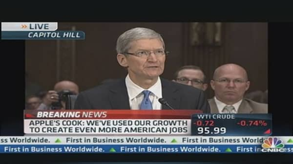 Apple CEO Cook: We Don't Use 'Tax Gimmicks!'