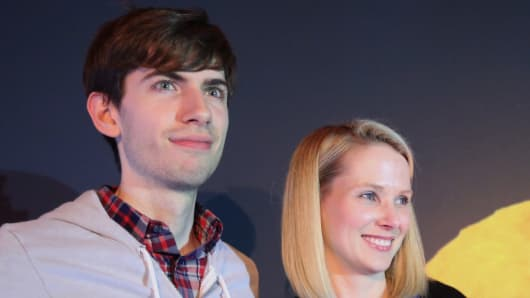 Marissa Mayer and David Karp