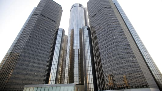 The General Motors world headquarters.