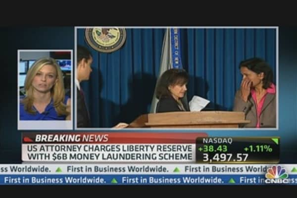 Liberty Reserve Charged With Money Laundering