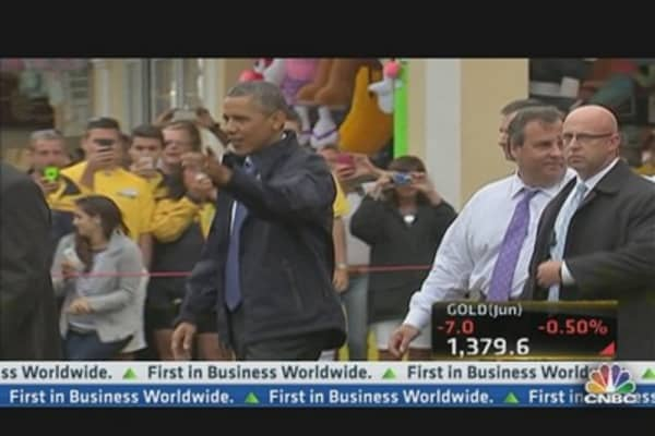 President Obama Visits the Jersey Shore