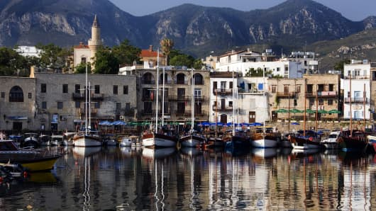 Cyprus, harbor at Kyrenia.